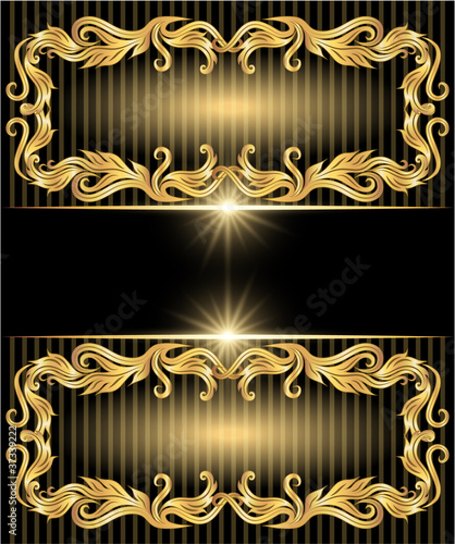 Background with golden ornament