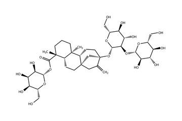 Structural formula of stevioside