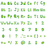Alphabet, figures and signs