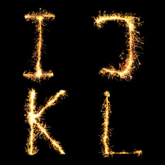 Real Sparkler Alphabet. See other letters in my portfolio.