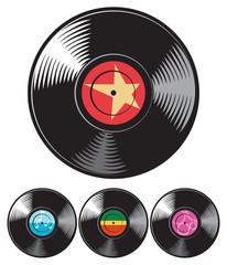 vector vinyl disc (record)