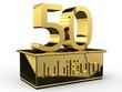 Jubiläum 50 Podest gold