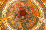 Painted on ceiling of temple about buddha's biography