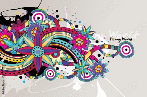 ilustracion de circulos en vector © ighost