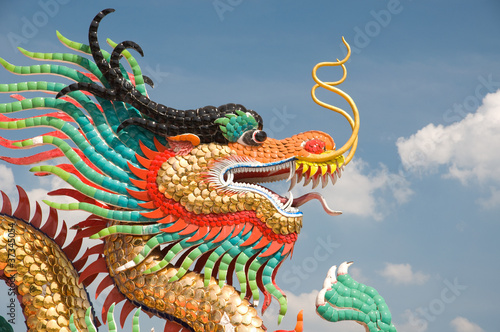 Chinese dragon statue