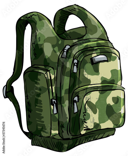 Illustration of a backpack.