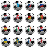 Euro Soccer Championship Teams - with clipping paths