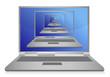 multiple laptops inside one illustration design on white
