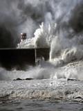 Fototapeta portugalia - sztorm - Wybrzeże