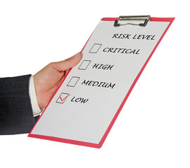 Checklist for risk level