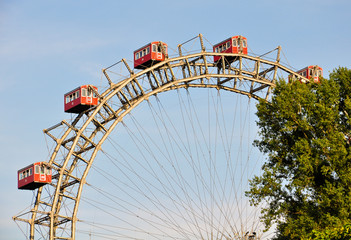 "the ""riesenrad"" in vienna- giant ferris wheel"