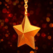 3d golden star with chains