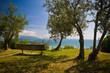 Panchina con vista sul mare Lazise Emilia Romagna Italia