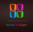logo gastronomique design couleurs