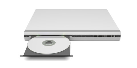 Front view of disc player