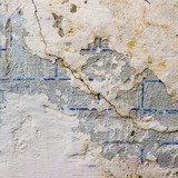 wall with cracks texture fissure damages paint poster