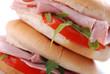 panino con prosciutto, pomodoro e rucola - quattro