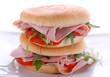 panino con prosciutto, pomodoro e rucola - sei