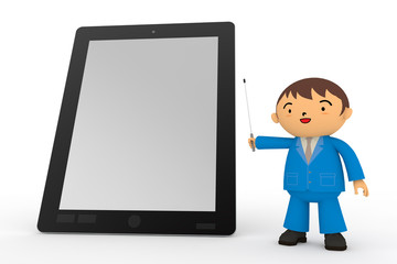 Tablet PC and businessman