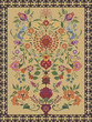 Carpet Design featuring traditional tree of life motif