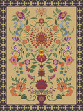 Carpet Design featuring traditional tree of life motif poster