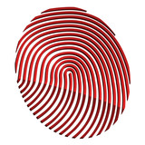 vector 3d abstract fingerprint
