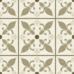 seamless vector vintage style wallpaper