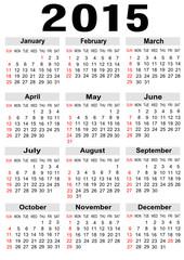 calendar 2015,vector image