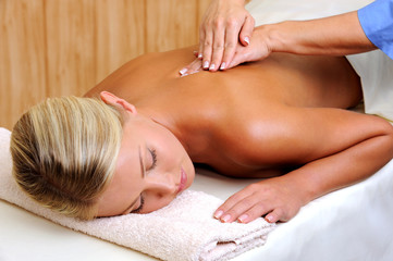 Woman in relaxing massage