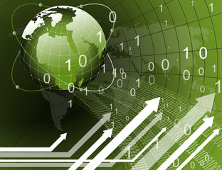 Green Earth Business Information Background