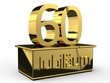 Jubiläum 60 Podest gold