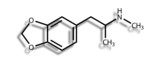 Structural formula of MDMA (ecstasy) poster