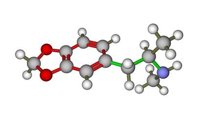 Molecular structure of MDMA (ecstasy)