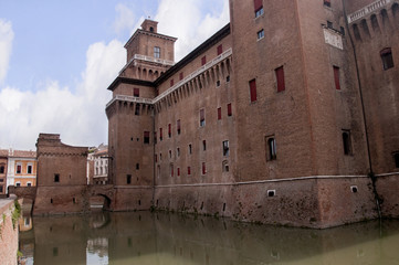 Castle at Ferrara in Northern Italy