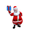 Happy Santa Claus with a lots of gifts.
