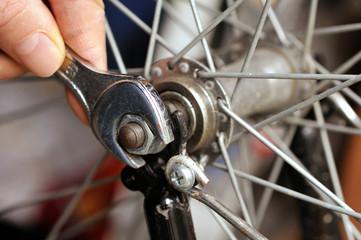 Serrage de roue