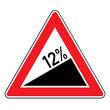 Verkehrsschild - Steigung 12%