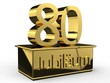 Jubiläum 80 Podest gold