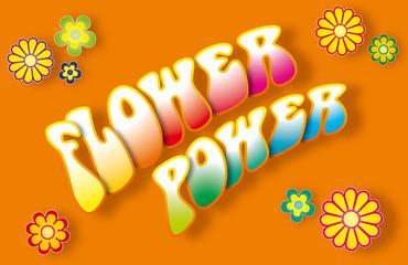 Flower Power 3D Schriftzug