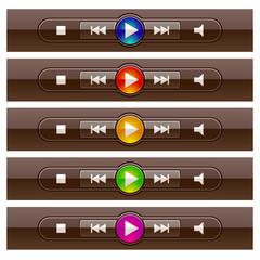 vector shiny multimedia panels