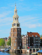 Amsterdam city center with Montelbaans tower, Netherlands.