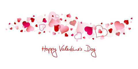 "Red & Pink Hearts ""Happy Valentine´s Day"""