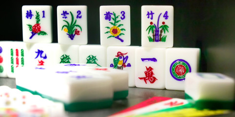 close up of asian gambling games