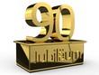 Jubiläum 90 Podest gold
