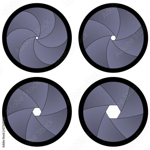 vector camera shutter apertures