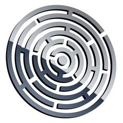 vector 3d shiny maze