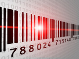 Fototapety Barcode Scanner with binary background