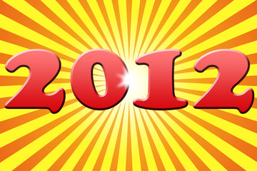 Stylized New Year 2012 Card Background