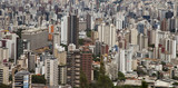 City landscape. Downtown buildings. Belo Horizonte, Brazil.