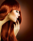 Beauty Portrait. Healthy Hair